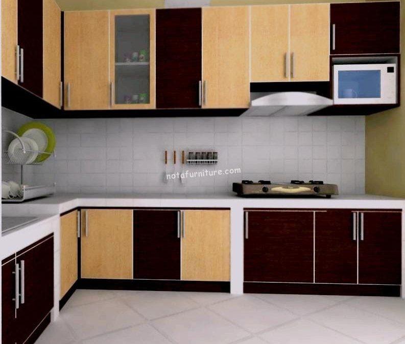 Kitchen Set Minimalis Rumah Mungil di Area Terbatas
