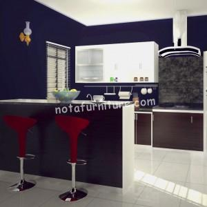 kitchen set dinding biru12