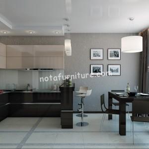 Kitchen Set Hitam Putih Nota Furniture