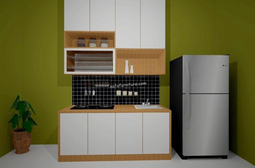 Linear Kitchen Set Warna Putih Cream Nota Furniture