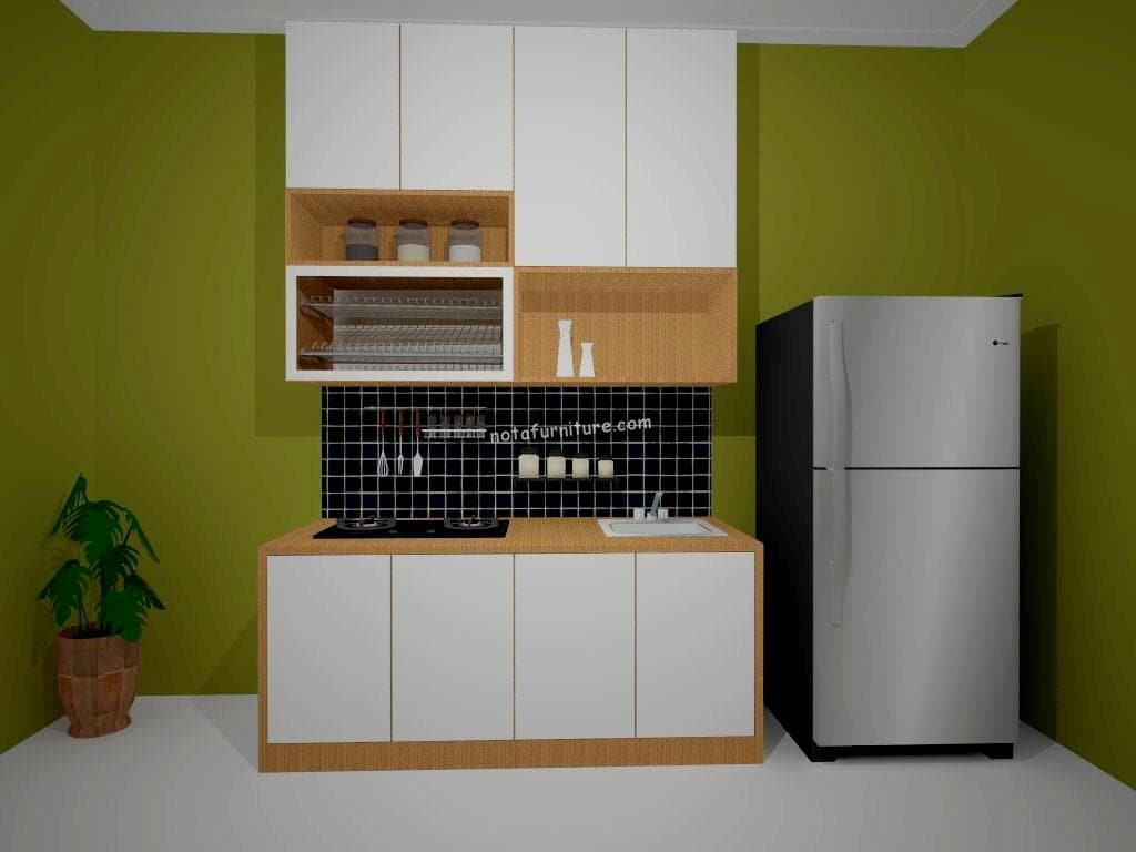 Linear Kitchen Set Warna Putih Cream