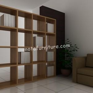 Contoh Desain Lemari Pembatas Ruangan