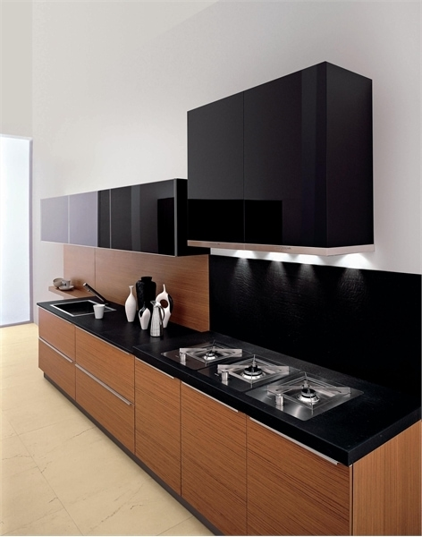 Kitchen set minimalis sederhana berkualitas for Kitchen set hitam