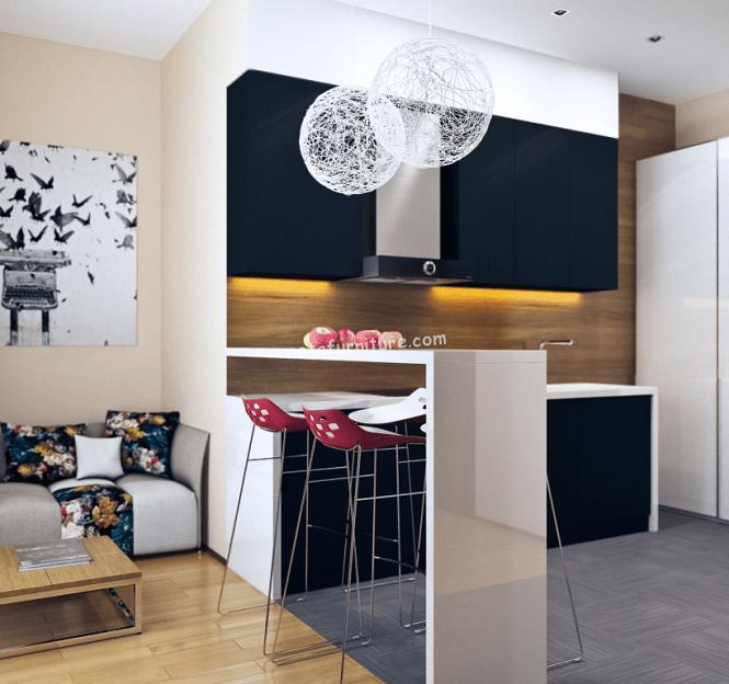 dapur kecil apartemen