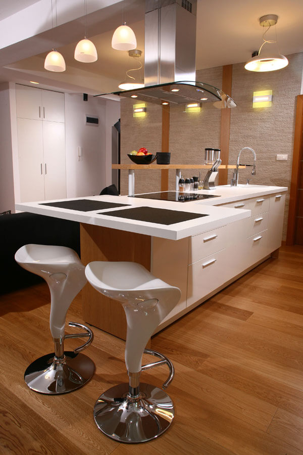desain kitchen set apartement