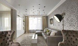 motif wallpaper untuk ruang tamu