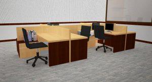 partisi meja kerja karyawan