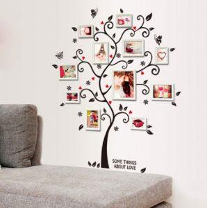 dekorasi dinding pohon