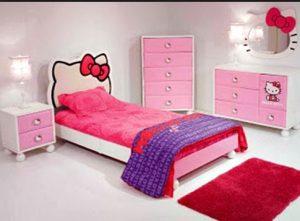 Dekorasi kamar anak motif hello kitty