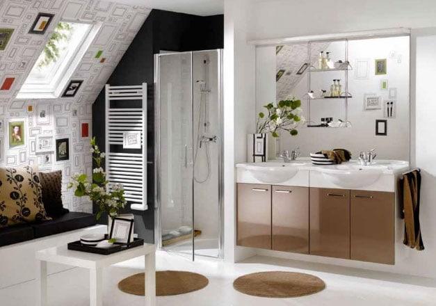Desain Pintu dan Shower Kamar Mandi yang Elegan