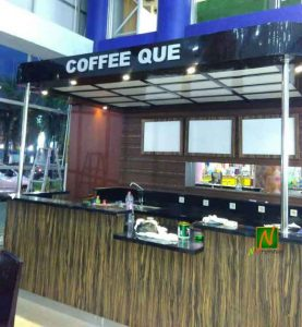 layout caffe que di mall pekayon