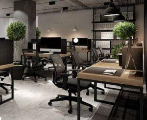 interior ruang kantor modern